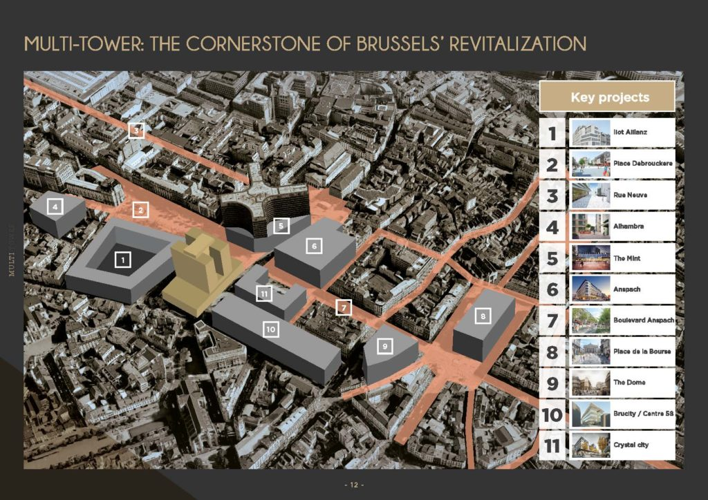 Multi Tower Brussels - Map